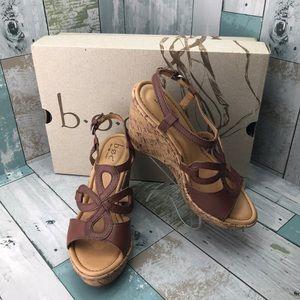 boc Born Concept Jalina Wedge Sandals size 8 NWT